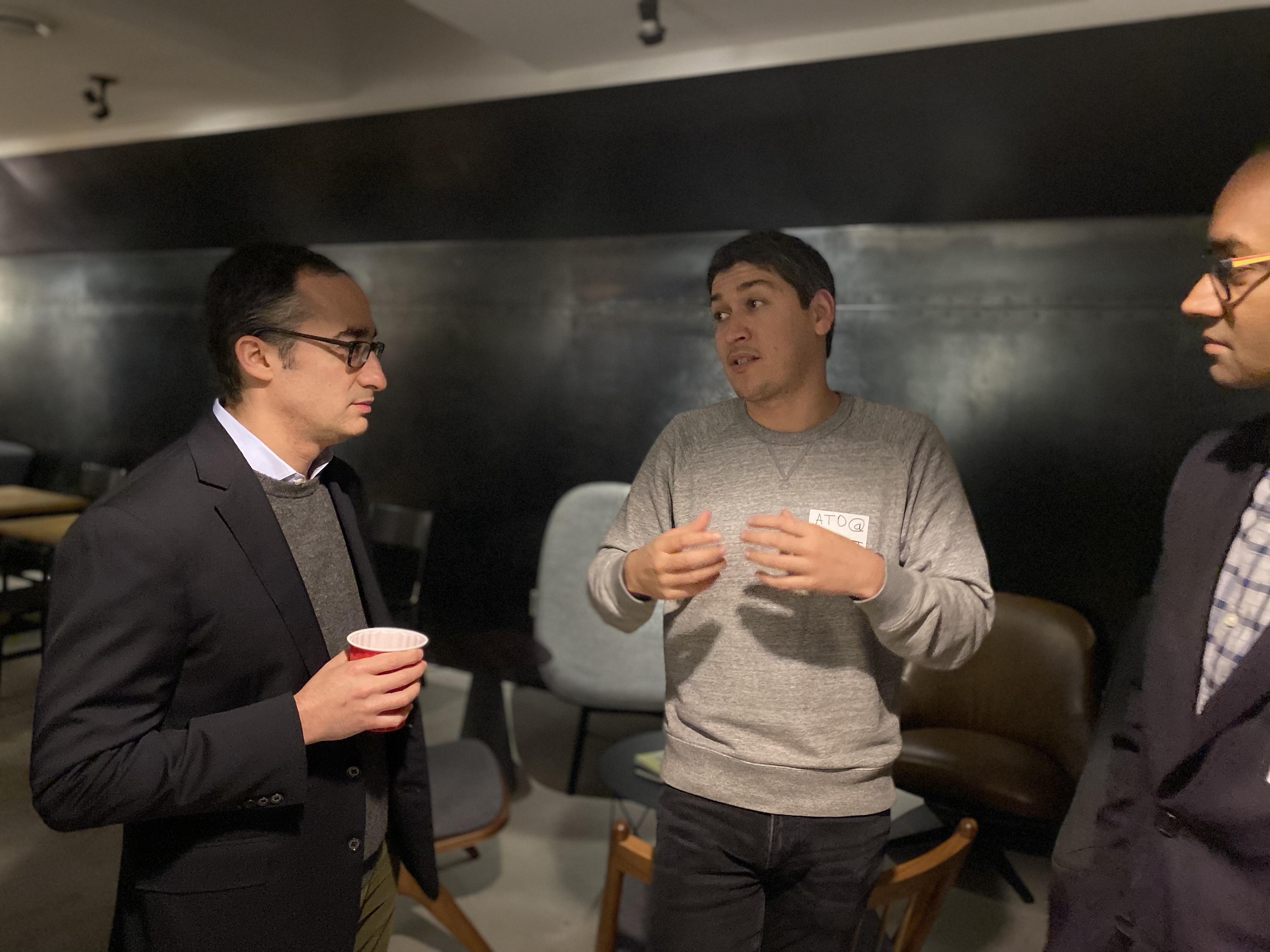 Paubox + Zentist 2020 Social Mixer (pics): Roger Cohen & Ato Kasymov