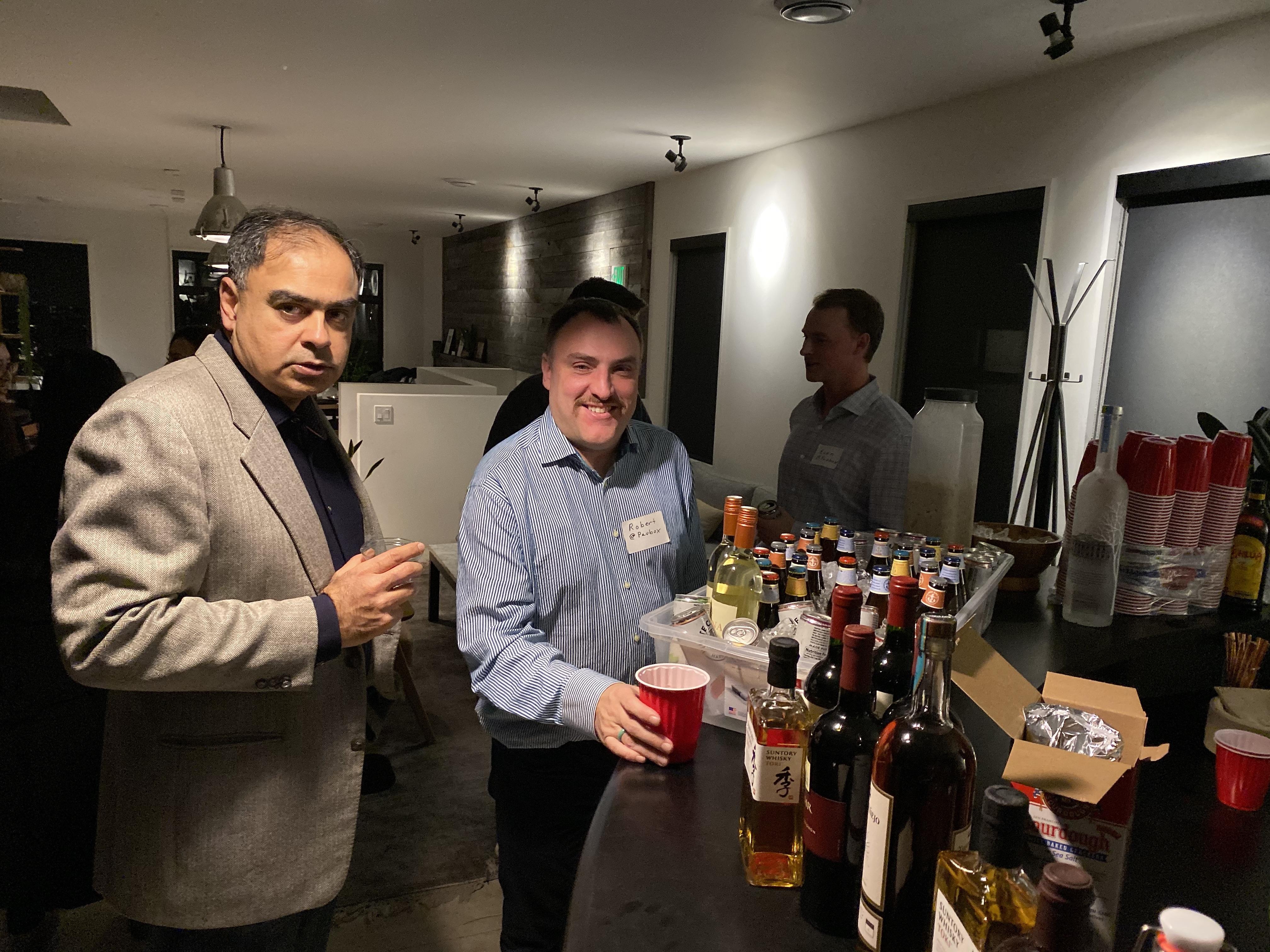 Paubox + Zentist 2020 Social Mixer (pics): Kamal Anand & Robert Ogus