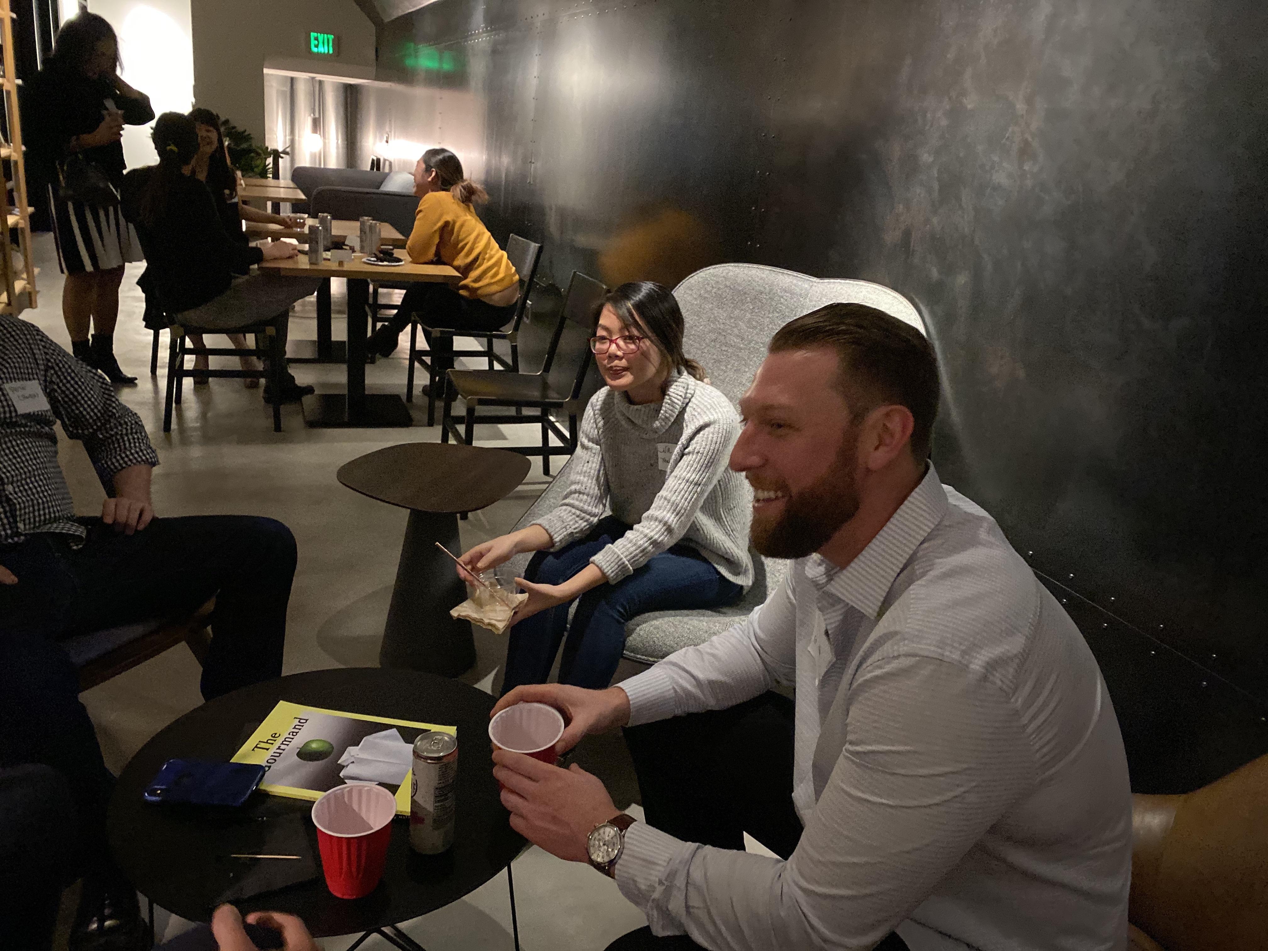Paubox + Zentist Social Mixer at Brex Oval Room (pics): Lisa Mai and Greg Hoffman