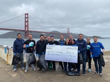 Paubox Community Service: Trash Pick up at Crissy Field - paubox
