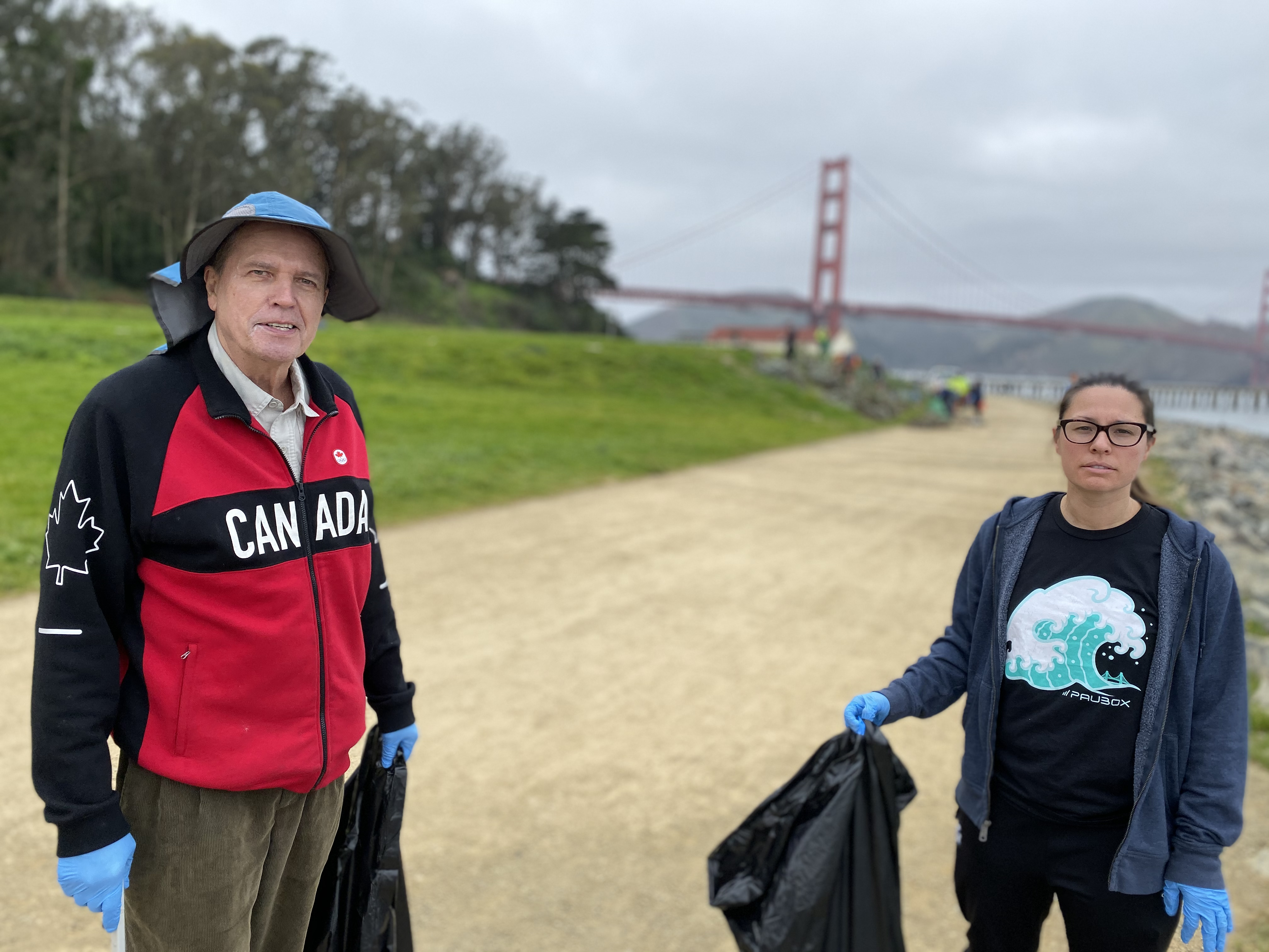 Denis Coleman and Lisa Lerud: Paubox Community Service: Trash Pick up at Crissy Field