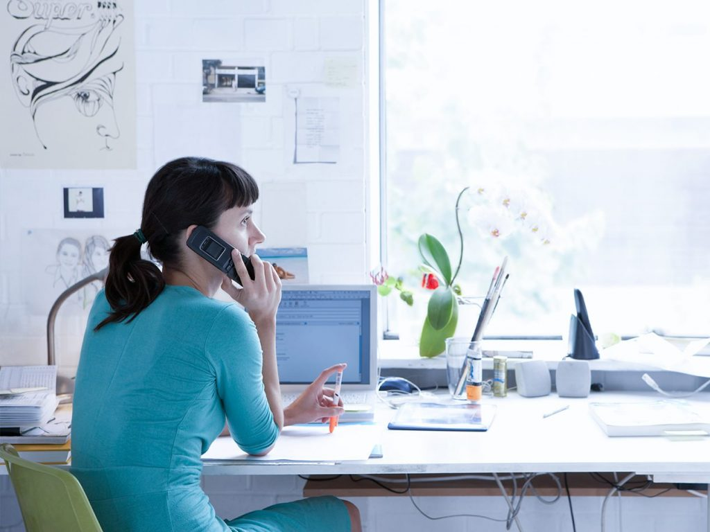 employee working from home securely