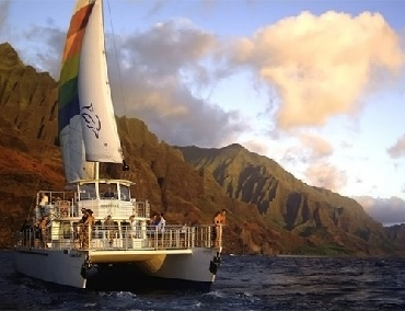 Product Na Pali Sightseeing Sunset Dinner Cruise