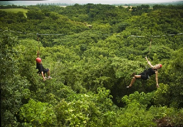 Kipu Falls Zipline Safari