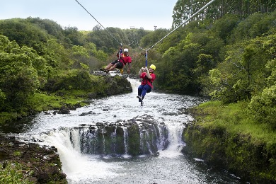 The Umauma Experience Falls and Zipline Tour -  4 Lines