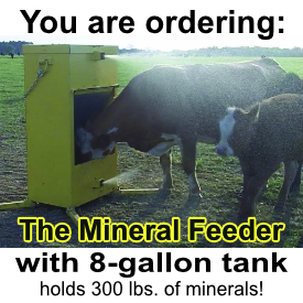 Mineral Feeder with 8 gallon tank BLACK FRIDAY 2019