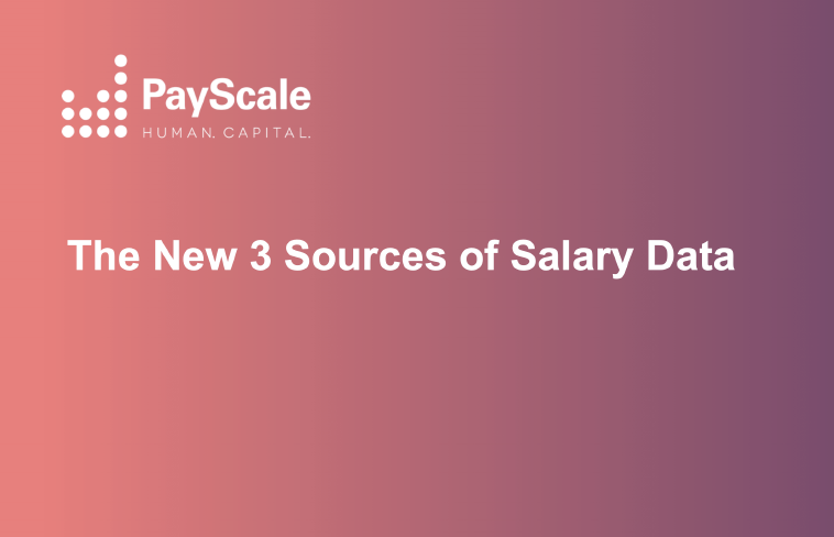 Salary Data Sources