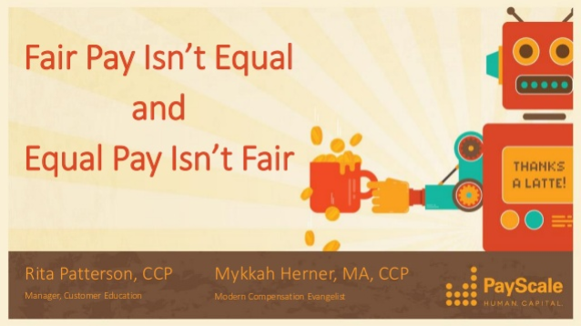 Fair Pay Isn't Equal and Equal Pay Isn't Fair