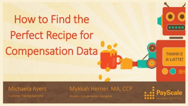 How to Find the Perfect Recipe for Compensation Data