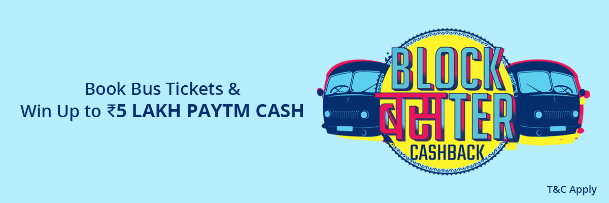 Gets 50% Cashback up to Rs.150 on bus ticket booking