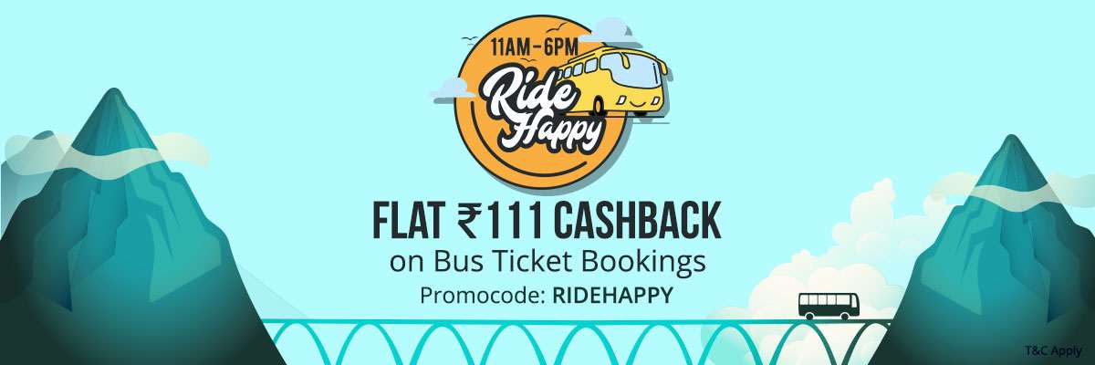 Flat Rs. 111 Cashback on Bus Ticket Bookings