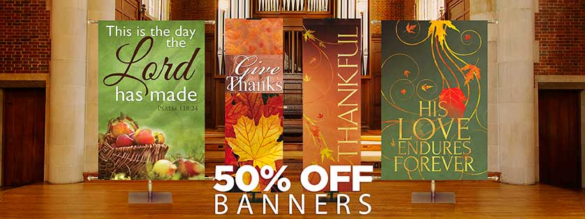 50% Off Fall and Thanksgiing Banners