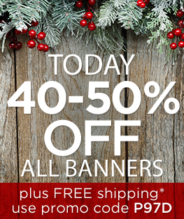 40-50% Off Church Banners