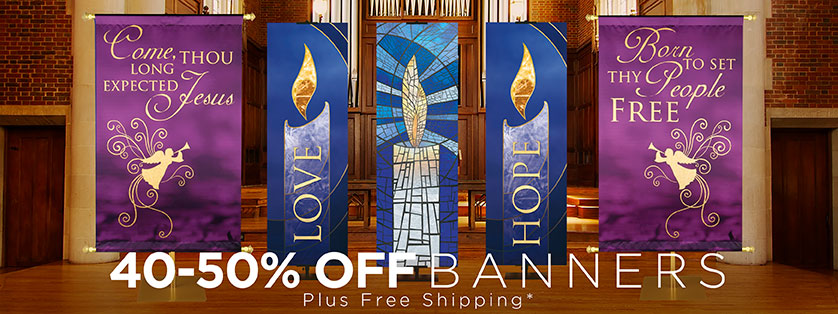 40%-50% Off Church Advent Banners Plus Free Shipping