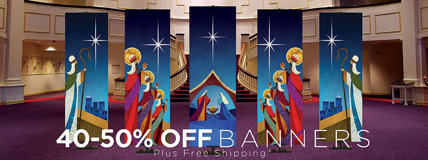 40%-50% Off Church Christmas Banners plus free shpping