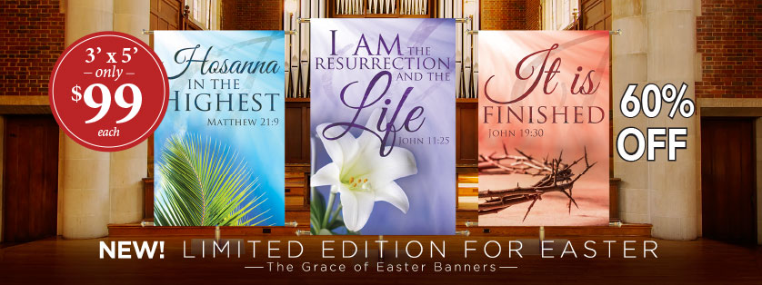 60% Off Easter Banners