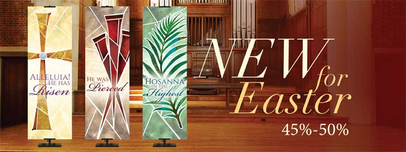 45% Off Church Easter Banners