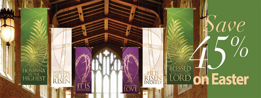 45% Off All Stock Easter Banners