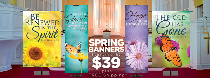 Spring Time Banners from $39