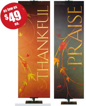 Autumn Faux Foil Banner Collection