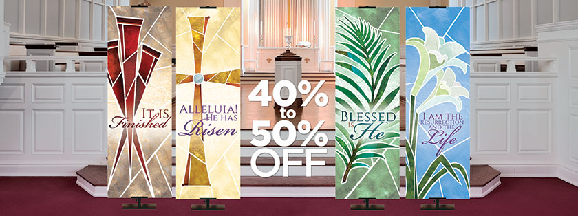 Easter Banners 40-50% Off