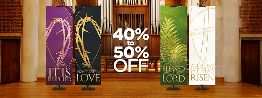 Liturgical Easter Banners 40-50% Off