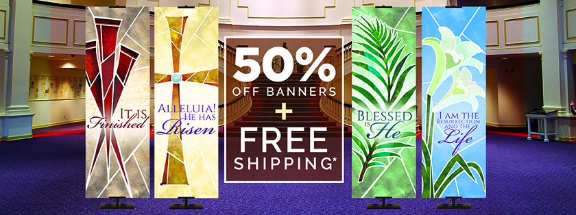 Half Off Spring Church Banners