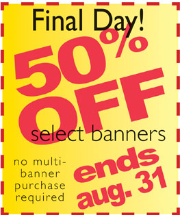 Church Banners on Sale at 50% Off
