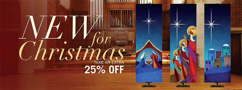 Christmas Church Banners from PraiseBanners