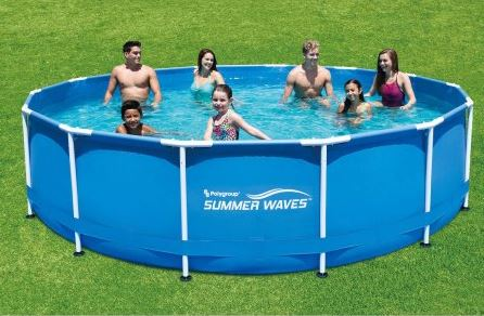"Summer Waves 15' x 42"" Above Ground Swimming Pool"