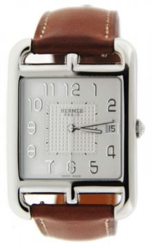 HERMES CC1.810 CAPE COD TGM STAINLESS STEEL WATCH