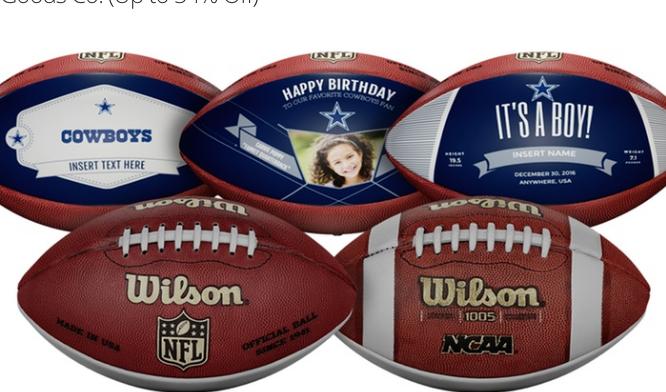 Custom NFL or NCAA Footballs