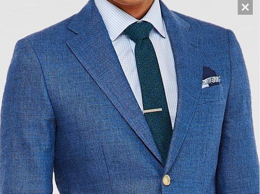 Indigo Step Weave Suit