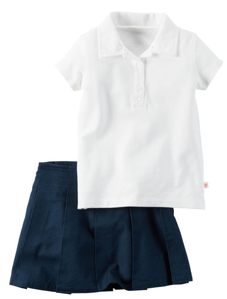 2-Piece Polo & Skirt Uniform Set