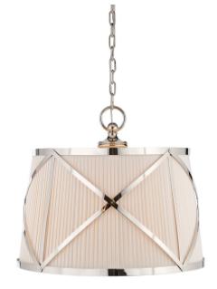 Visual Comfort Chart House 3 Light Grosvenor Large Single Pendant