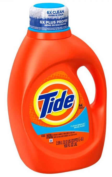 100oz Tide Liquid Laundry Detergents