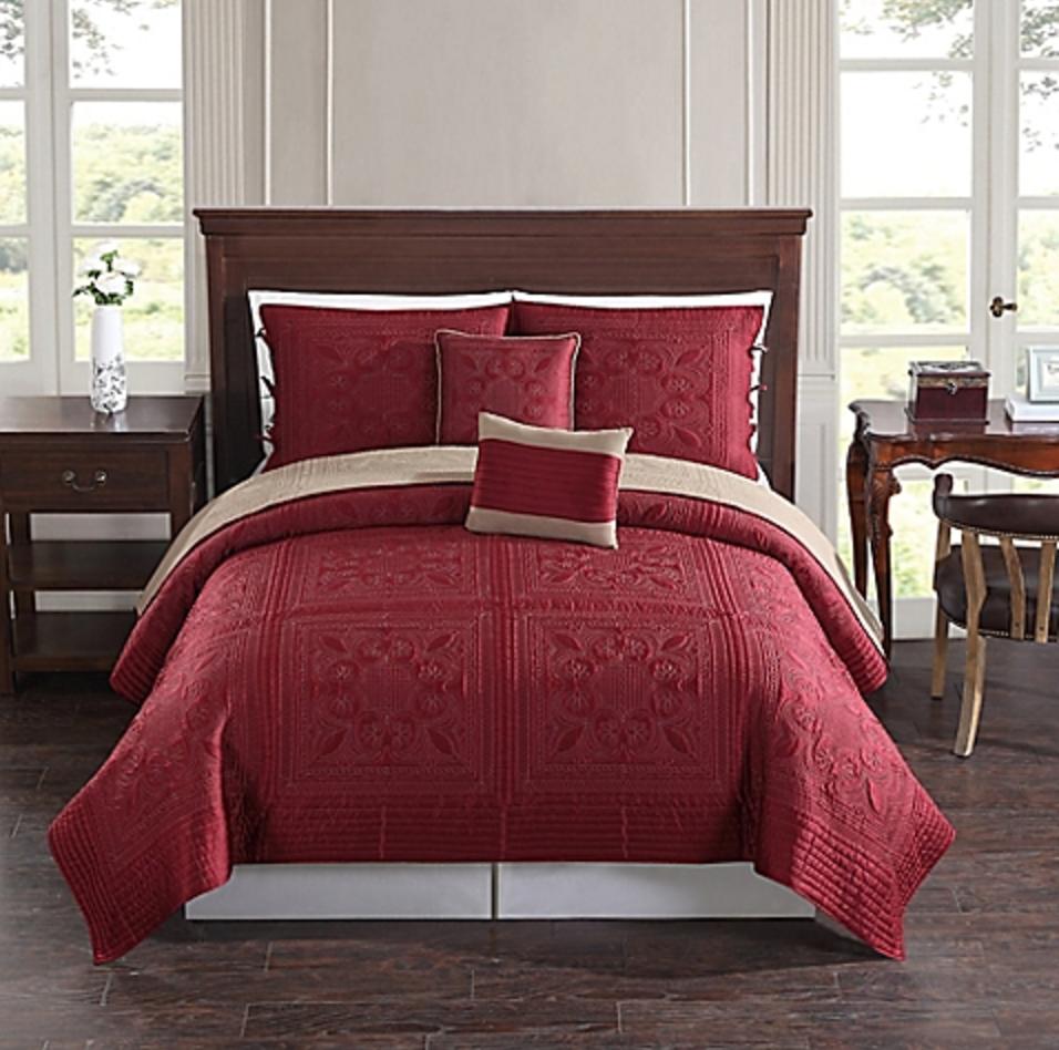 Baroque Tile Reversible Quilt Set