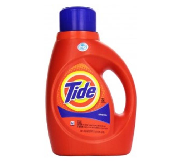 Tide Detergent, HE, Original Scent 50 fl oz (1.56 qt) 1.47 lt