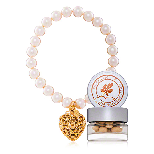Tuscan Fig Pearl Bracelet with Gold Charm (0.04 oz.)