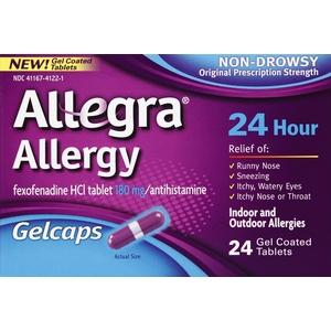 Allegra Allergy 24hr Gelcaps, 24ct