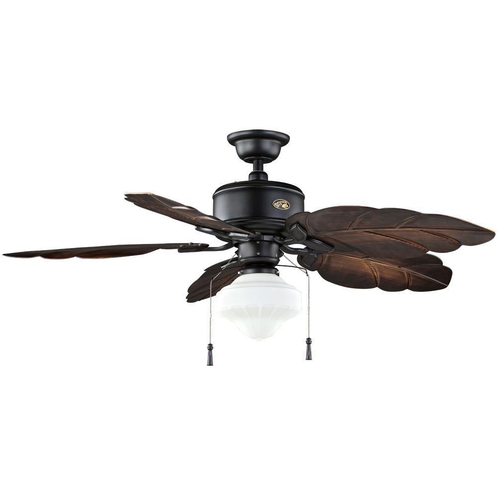 Hampton Bay Nassau 52 in. Natural Iron Indoor/Outdoor Ceiling Fan