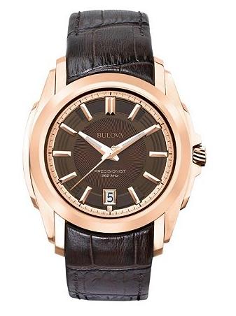 Bulova Men's Precisionist Leather Watch - 97B110