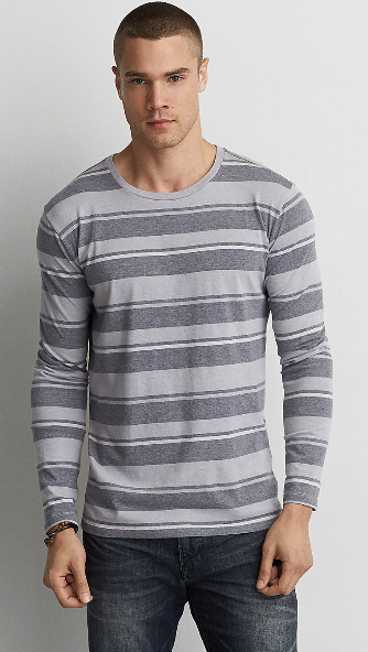 AEO LONG SLEEVE CREW T-SHIRT