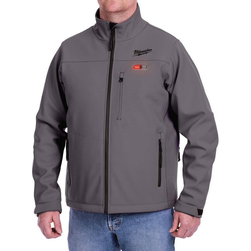 Milwaukee Large M12 12-Volt Lithium-Ion Cordless Gray Heated Jacket (Jacket-Only)