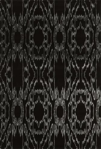 Linon Electric Black 5 x 8 ft. Indoor Area Rug