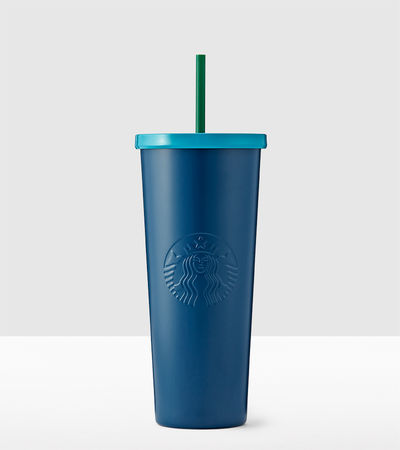 Navy Blue Stainless Steel Cold Cup