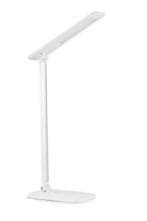 TaoTronics LED Desk Lamp, Dimmable LED Table Lamp, Bedside Lamp, Cool White Reading Light, Eye-caring Book Light (3-Level Dimmer, Touch-Sensitive Control, Night Light, 6W, Glossy White)