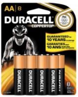 Duracell Coppertop Batteries, Alkaline, AA, 8 batteries