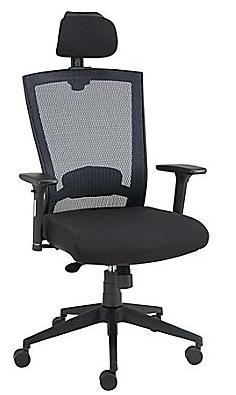 Staples Telfair™ Black Mesh Chair with Headrest