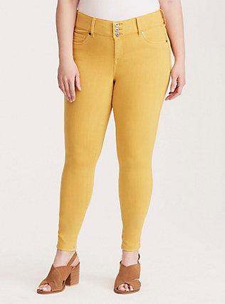 Torrid Jeggings - Mustard Yellow Wash